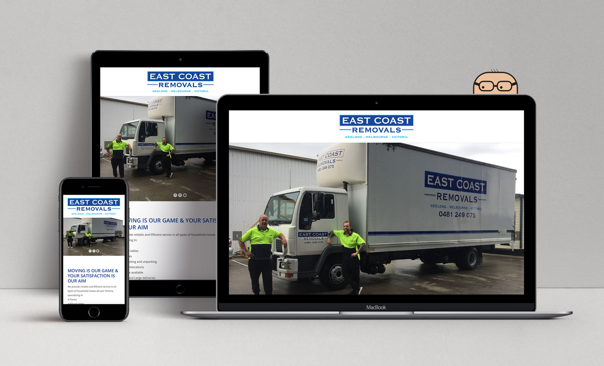 East Coast Removals Vic Mockup