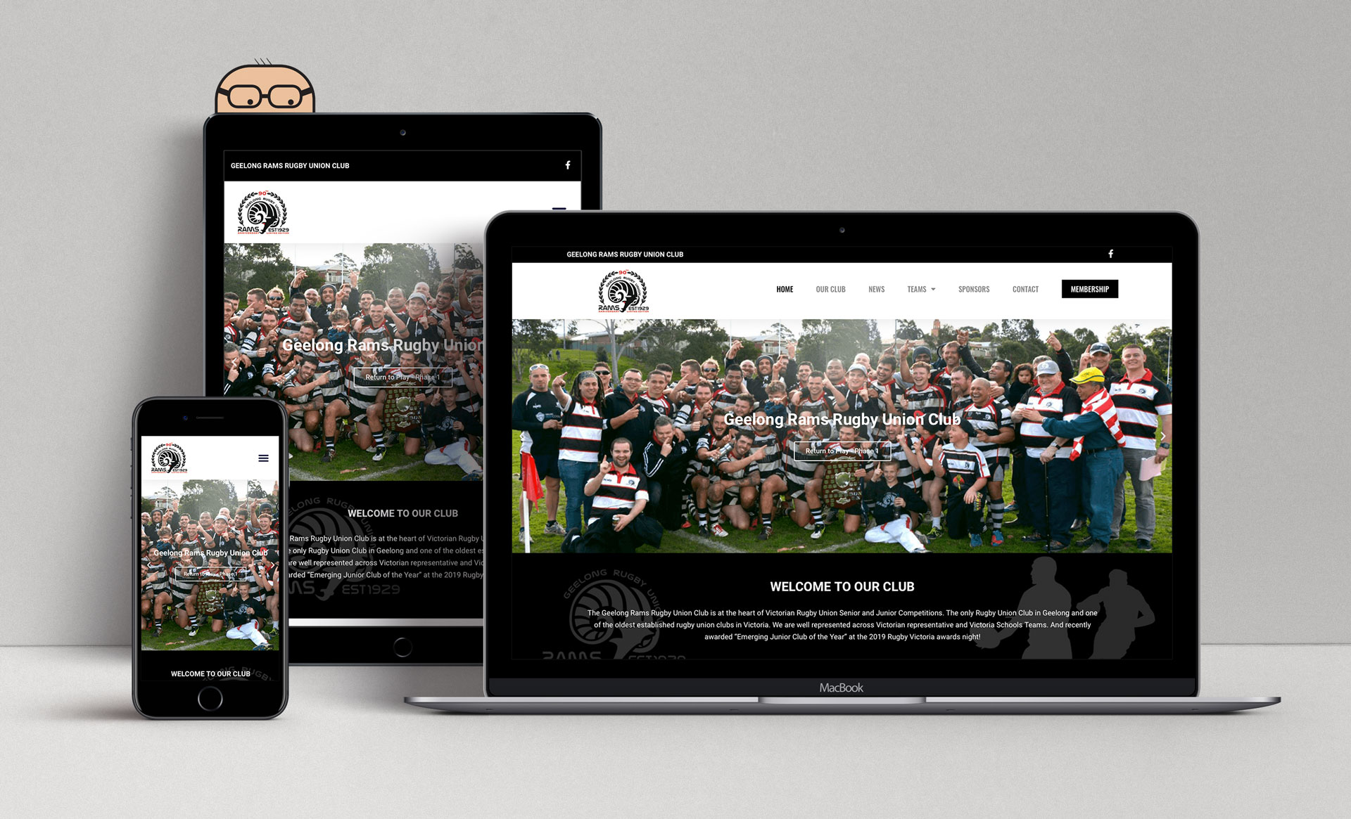 Geelong Rams Rugby Union Club Mockup