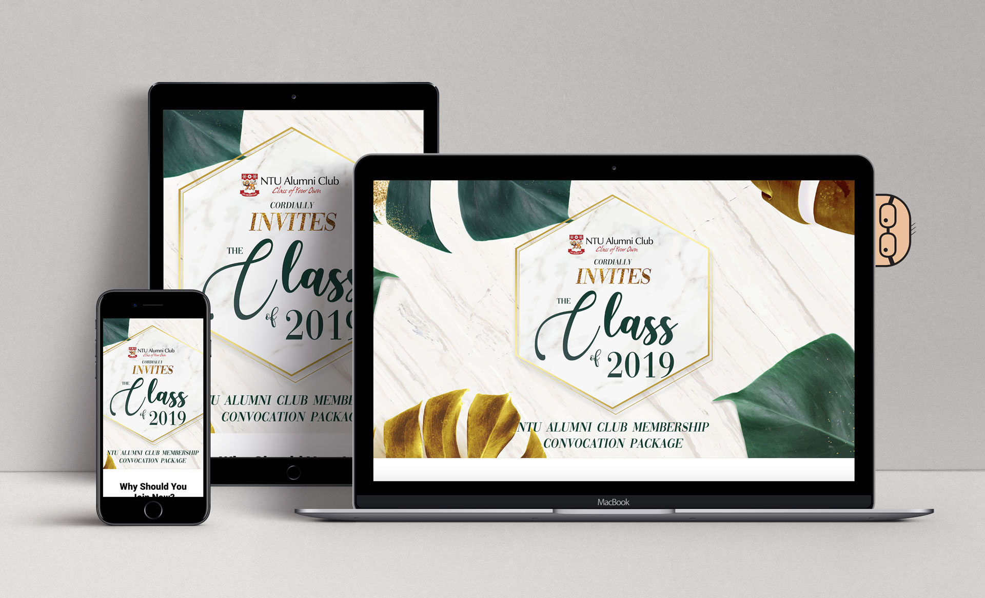 NTU Alumni Club Convocation 2019 Mockup