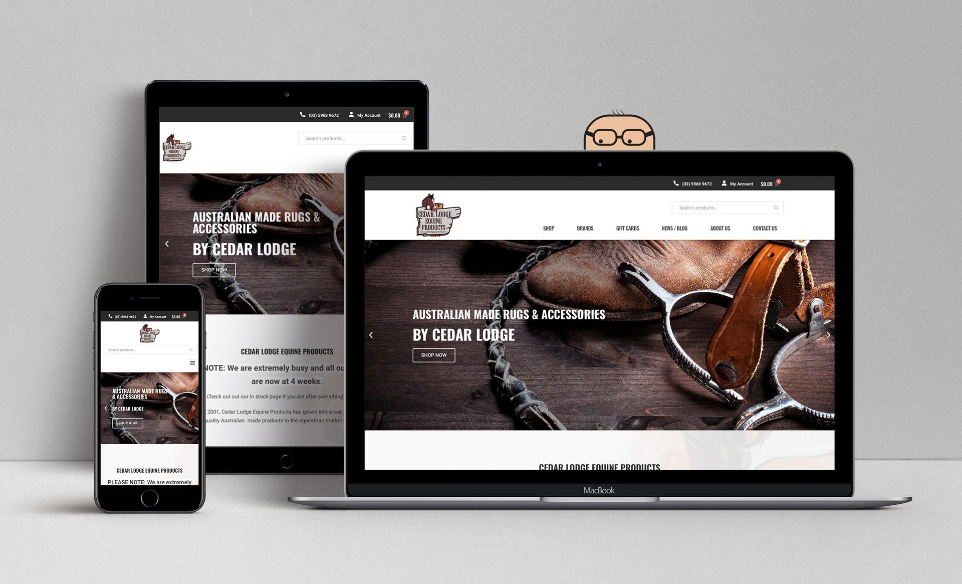 Cedar Lodge Equine Products Mockup